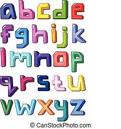Multicolor small letters
