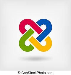multicolor, solomon, knot.