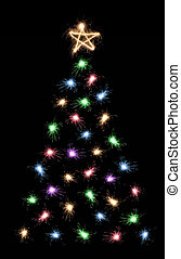 multicolor sparkler christmas tree 2