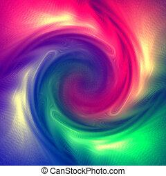 Multicolor spiral