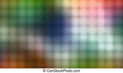 Multicolor square wall non looping animated background