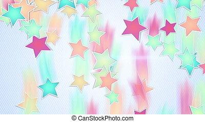 multicolor stars falling loopable