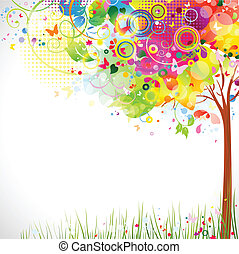 multicolor, strom