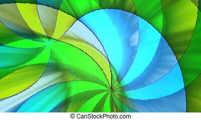 Multicolor swirling