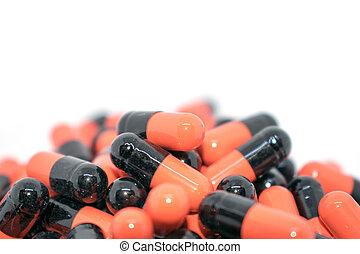 multicolor, tablets., médico, productos, mantener, buena...