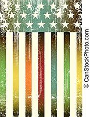 Multicolor textured american flag