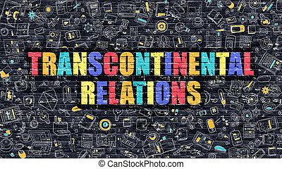 Multicolor Transcontinental Relations on Dark Brickwall....