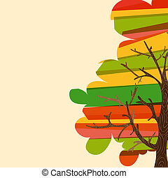 Multicolor tree background