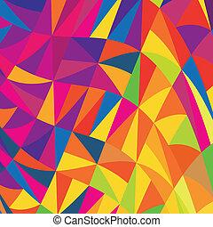 multicolor, triángulos, fondo., vector, eps10