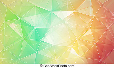 multicolor triangles and lines pattern. computer generated ...