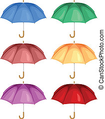 Multicolor umbrella set