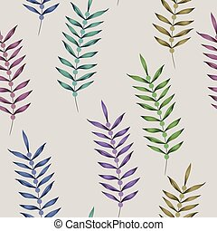 Multicolor vertical branch seamless white background