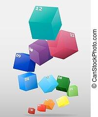 multicolor, vetorial, infographics