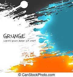 multicolor, vettore, grunge, fondo