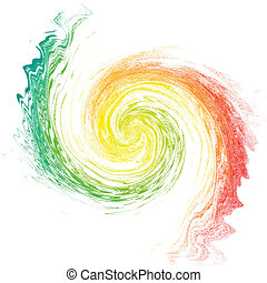 Multicolor vortex isolated on white. Abstract backdrop. ...