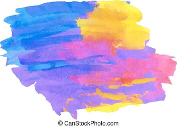 multicolor watercolor painting