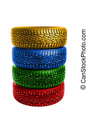 multicolor winter tires