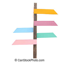 Multicolor wood sign board