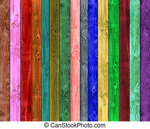 Multicolor wooden background