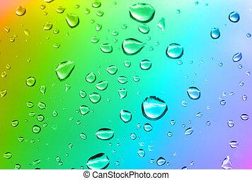multicolore, baisses eau