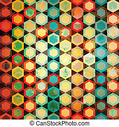 multicolore, cellules, seamless