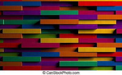multicolore, clair, fond, rayé, 3d