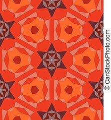 multicolore, modèle géométrique, dans, clair, red.