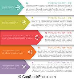 multicolore, moderne, template., minimalistic, infographics
