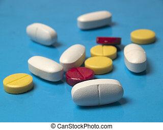 multicolore, pilules