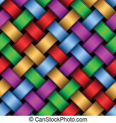 multicolore, ribbons.