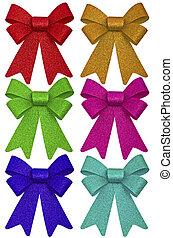 multicolore, rubans