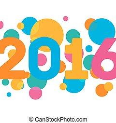 multicolore, salutations, fond, année, nouveau, 2016, ton, carte, heureux