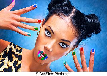 multicolore, trucco