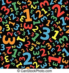Multicolored 123 number background seamless
