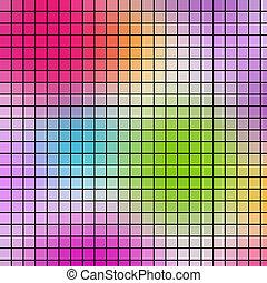 Multicolored a frame