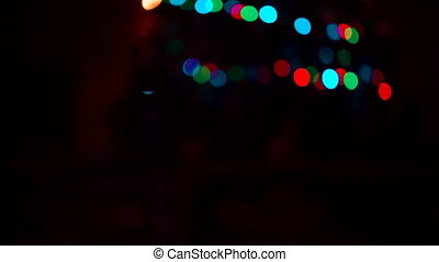 Multicolored abstract bokeh. Abstract Christmas vibrant...
