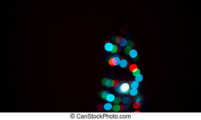 Multicolored abstract bokeh. Abstract Christmas vibrant...