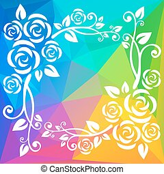 multicolored abstract border
