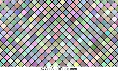 Multicolored abstract diagonal square mosaic pattern...