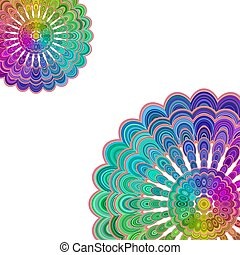 Multicolored abstract floral mandala design background