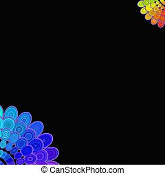 Multicolored abstract floral mandala design background - vector digital art