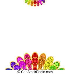 Multicolored abstract floral mandala design background - vector digital art