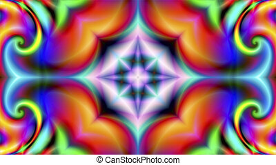 multicolored abstract fractal background