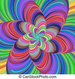 Multicolored abstract fractal spiral background