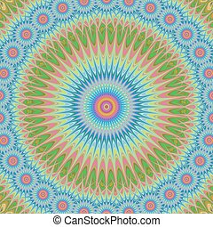 Multicolored abstract mandala ornament background