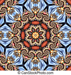 multicolored abstract template with a circular ornament