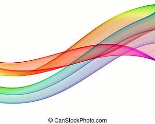 multicolored abstraction on white background, high quality ...