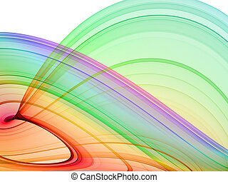 multicolored abstraction over white background - hq rendered...