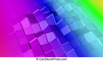 Multicolored animated low poly . 3d rendering - Multicolored...