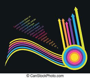 Multicolored arrows background